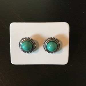New Boho Chic Sea Green Stud Earrings